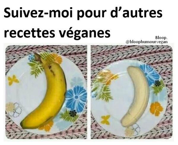 Recette végane : banane