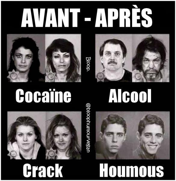 Cocaïne, alcool, hoummous